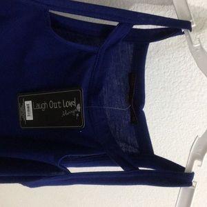 Laugh Out Loud Dresses - Long blue simple dress. Brand new